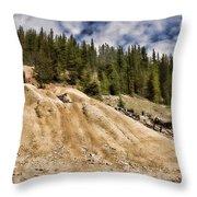 Bon Ton Mine Ruins Throw Pillow