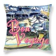 Bon Voyage Cruise Throw Pillow