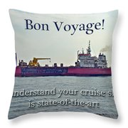 Bon Voyage Greeting Card - Enjoy Your Cruise Throw Pillow