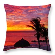 Bonaire Sunset 1 Throw Pillow
