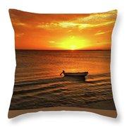 Bonaire Sunset 4 Throw Pillow