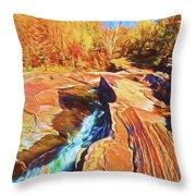Bonanza Falls Throw Pillow