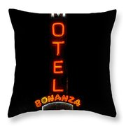 Bonanza Lodge Motel Throw Pillow