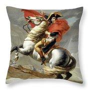 Bonaparte Crossing The Alps Throw Pillow
