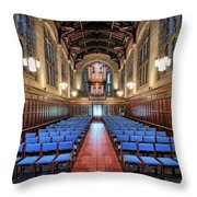 Bond Chapel Pipes View Throw Pillow