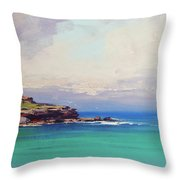 Bondi Beach Colours Throw Pillow