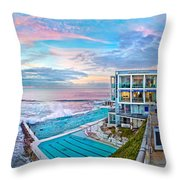 Bondi Beach Icebergs Throw Pillow