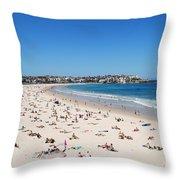 Bondi Beach In Sydney Australia Throw Pillow