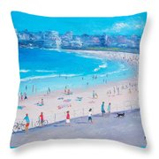 Bondi Beach Summer Throw Pillow