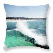 Bondi Icebergs Throw Pillow