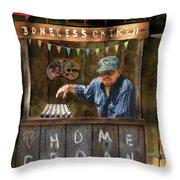 Boneless Chicken Sale Throw Pillow