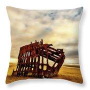 Bones Of A Shipwreck Throw Pillow