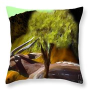 Bongo Antelope Throw Pillow