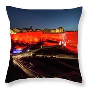 Bonifacio Fortress At Night Throw Pillow