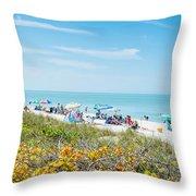 Bonita Beach Throw Pillow