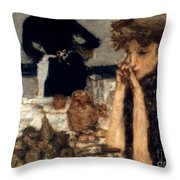 Bonnard: Breakfast, C1899 Throw Pillow