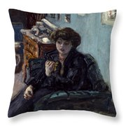 Bonnard: Lady, 19th C Throw Pillow
