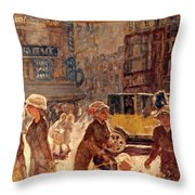 Bonnard: Place Clichy Throw Pillow
