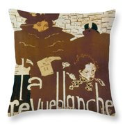 Bonnard Revue 1894 Throw Pillow