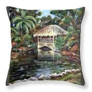 Bonnet House Chickee Throw Pillow