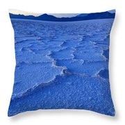 Bonneville Salt Flats At Dusk Throw Pillow