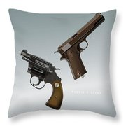 Bonnie And Clyde - Alternative Movie Poster Throw Pillow