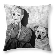 Bonnie Hunt And Charlie Throw Pillow