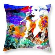 Bonnie Raitt Color Splash Throw Pillow