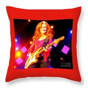 Bonnie Raitt In Concert Watercolor Throw Pillow