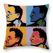 Bono Pop Panels Throw Pillow
