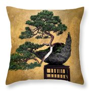 Bonsai 3 Throw Pillow
