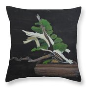 Bonsai #4a Throw Pillow by Richard Le Page