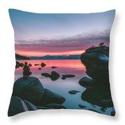 Bonsai Rock Sunset Throw Pillow