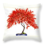 Bonsai Tree - Inaba Shidare Throw Pillow