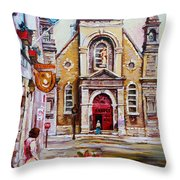Bonsecours Church Throw Pillow