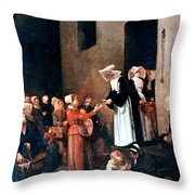 Bonvin: Charity, 1851 Throw Pillow
