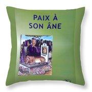 Book Cover Paix A Son Ane Throw Pillow