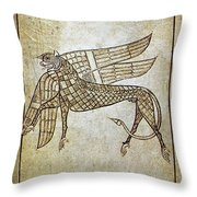 Book Of Durrow, C680 A.d Throw Pillow
