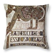 Book Of Lindisfarne Initial Throw Pillow