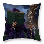 Book Of Magic Spells Throw Pillow
