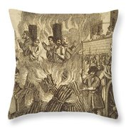 Book Of Martyrs, 1563 Throw Pillow