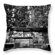 Book Store Throw Pillow
