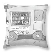 Books About Ice Cream Throw Pillow