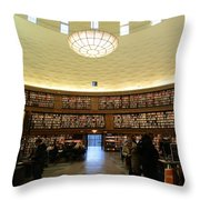 Books All Over Throw Pillow