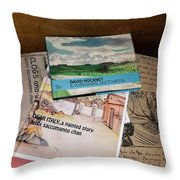 Books Of Beauty Throw Pillow
