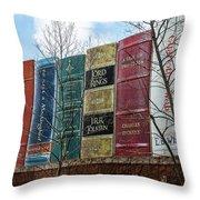 Books Plus Kansas City Throw Pillow