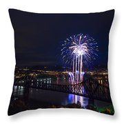 Fireworks In Beaver County  Throw Pillow