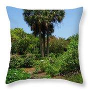 Boone Hall Garden Throw Pillow