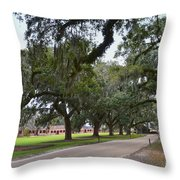 Boone Hall Plantation Throw Pillow