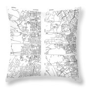 Boonies, Burbs And Boutiques Of Pi Throw Pillow